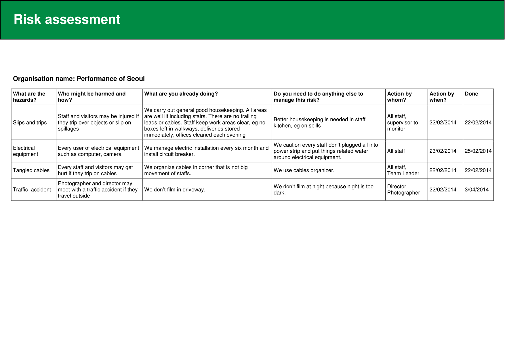 risk assessment policy template 2